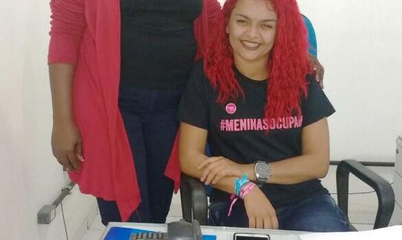 Gestora da Funac_Ellisângela Cardoso e a jovem Joyce_ presidenta por um dia